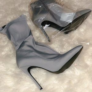 Sexy pointed sock booties